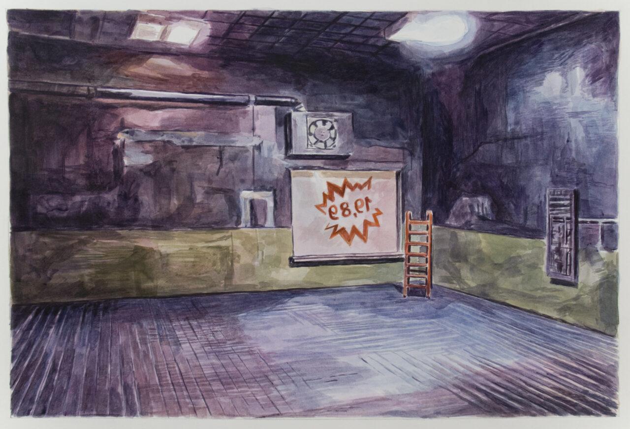 19,89 (Part 3) | Watercolors on Paper | 58cm x 40 cm