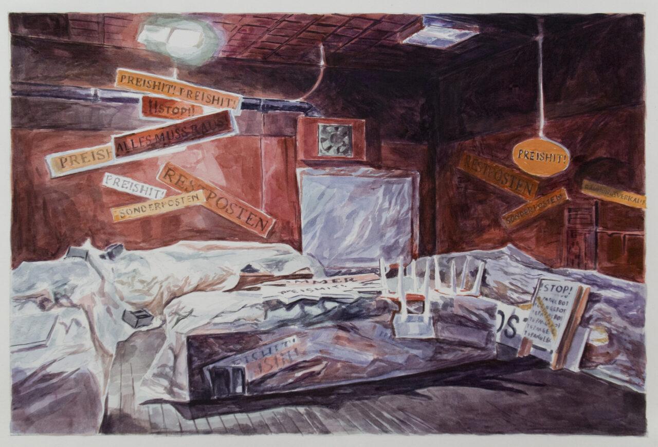 19,89 (Part 6) | Watercolors on Paper | 58cm x 40 cm