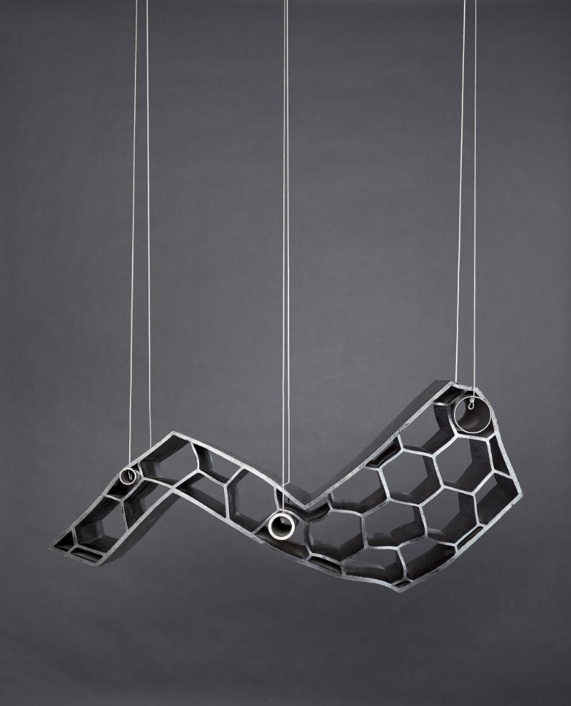 Hannah Hallermann   Startblock (hanging)   2019   Rubber l Steelropes I Photo:Markus Bachmann