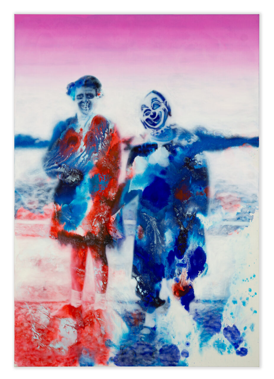 Tears of a clown (2020), Oil and Watercolor on Canvas, 230x 160 cm / 90.6 x 63 in.