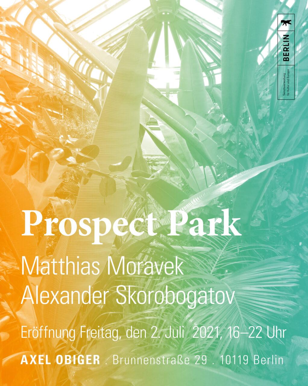 Opening PROSPECT PARK: MATTHIAS MORAVEK & ALEXANDER SKOROBOGATOV image
