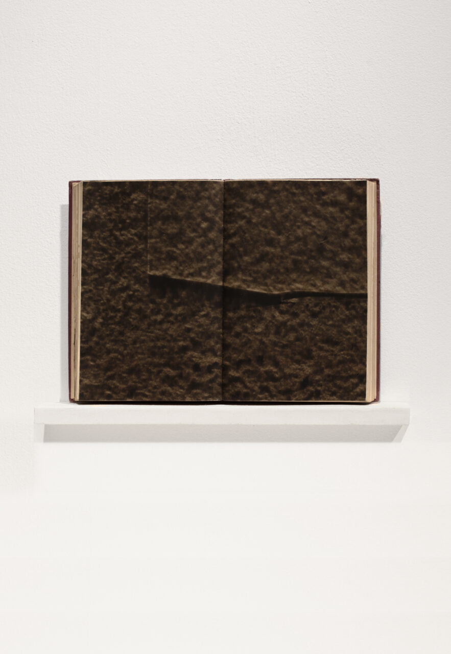 VESSEL vol. I, 2021 15.6 x 21.7cm, aqueous polyester, pigment dispersal on bound paper with shelf