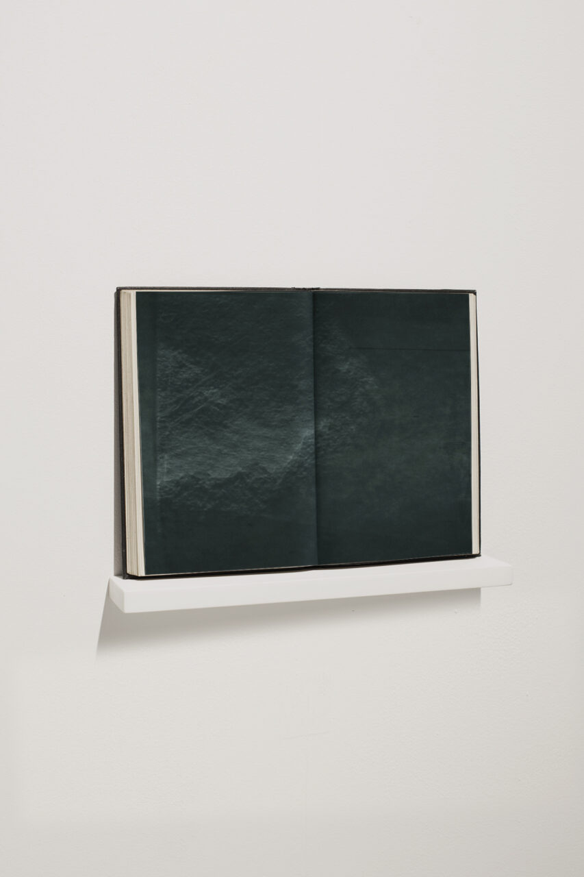 VESSEL vol. II 2021 19.0 x 26.0cm Aqueous polyester, pigment dispersal and bound paper with shelf