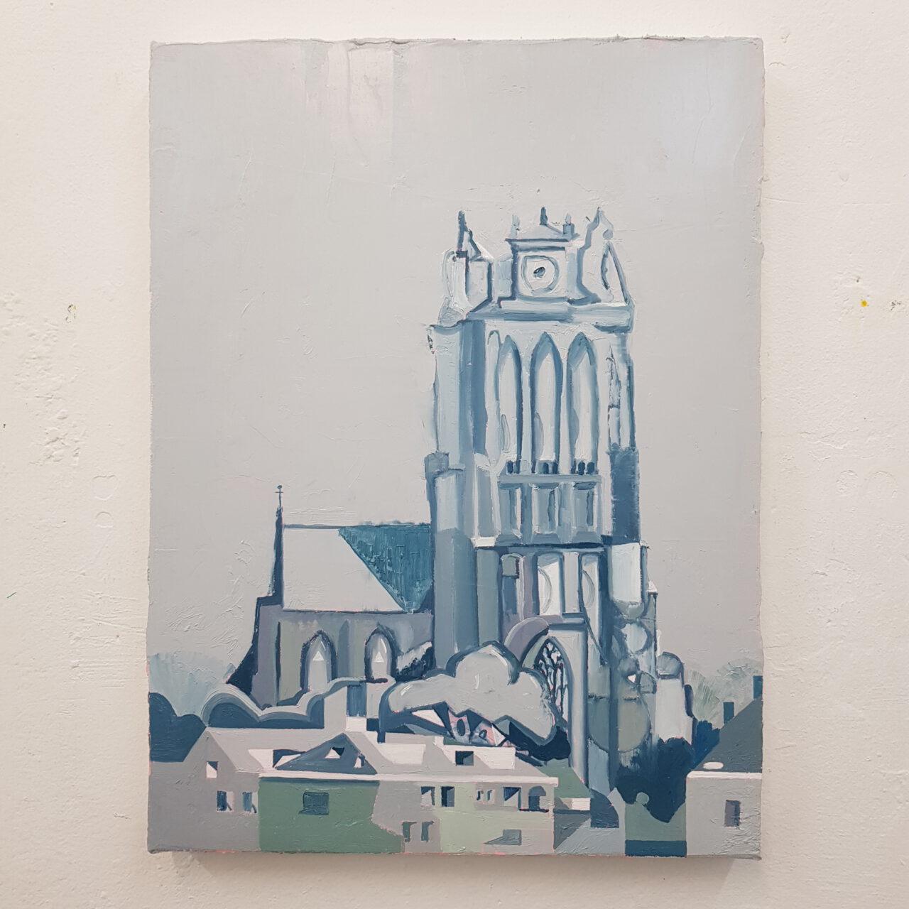 Church, 2021, oil on linen, 40x30cm