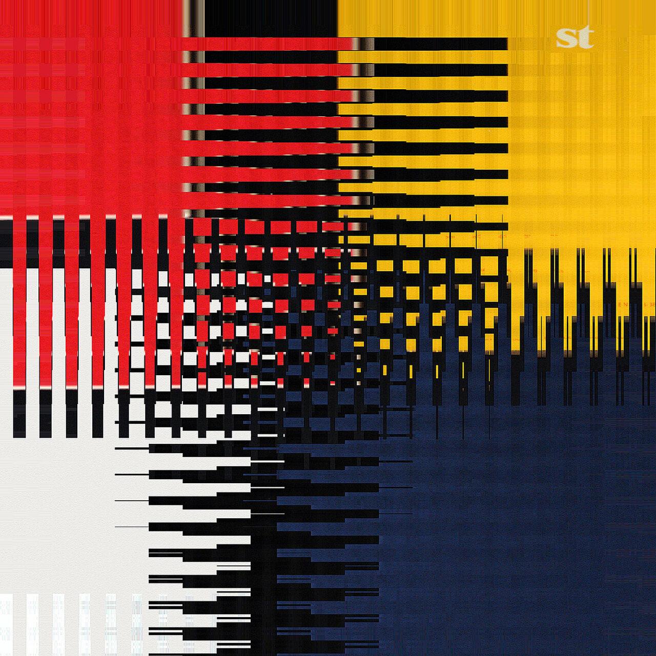 Vernetzt wahrnehmen, aus der Reihe Visual Text, 2021,  Experimental Fine Art Photography, Mixed Media, Farbpigment auf Aludibond, 50 cm x 50 cm, rückseitig signiert und mit Schattenfuge gerahmt