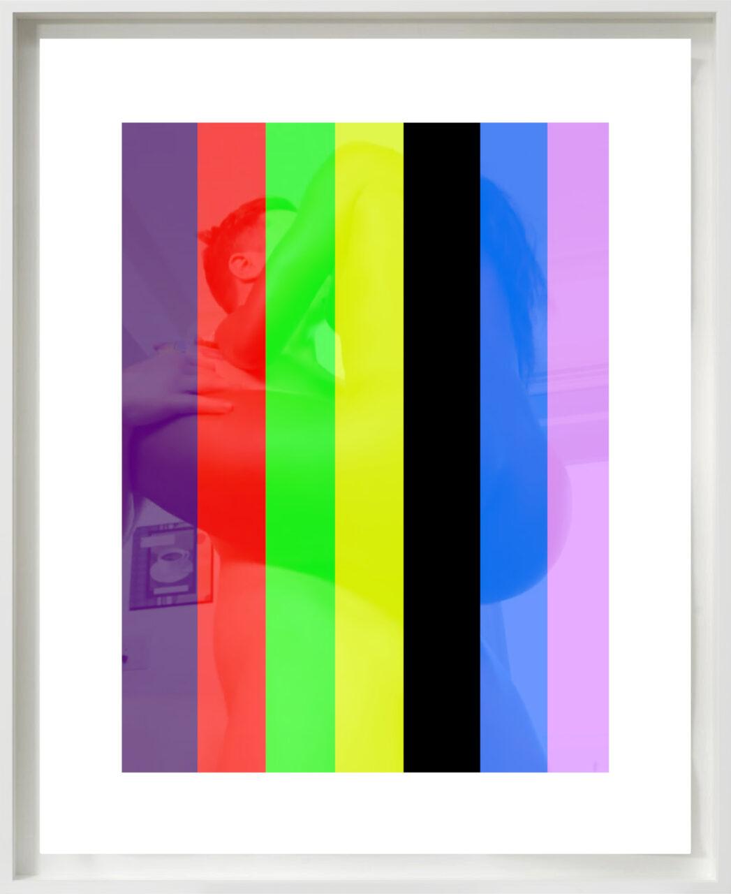 Streifenbild (Censorship by Formalism), c-print, 40 x 30 cm + border