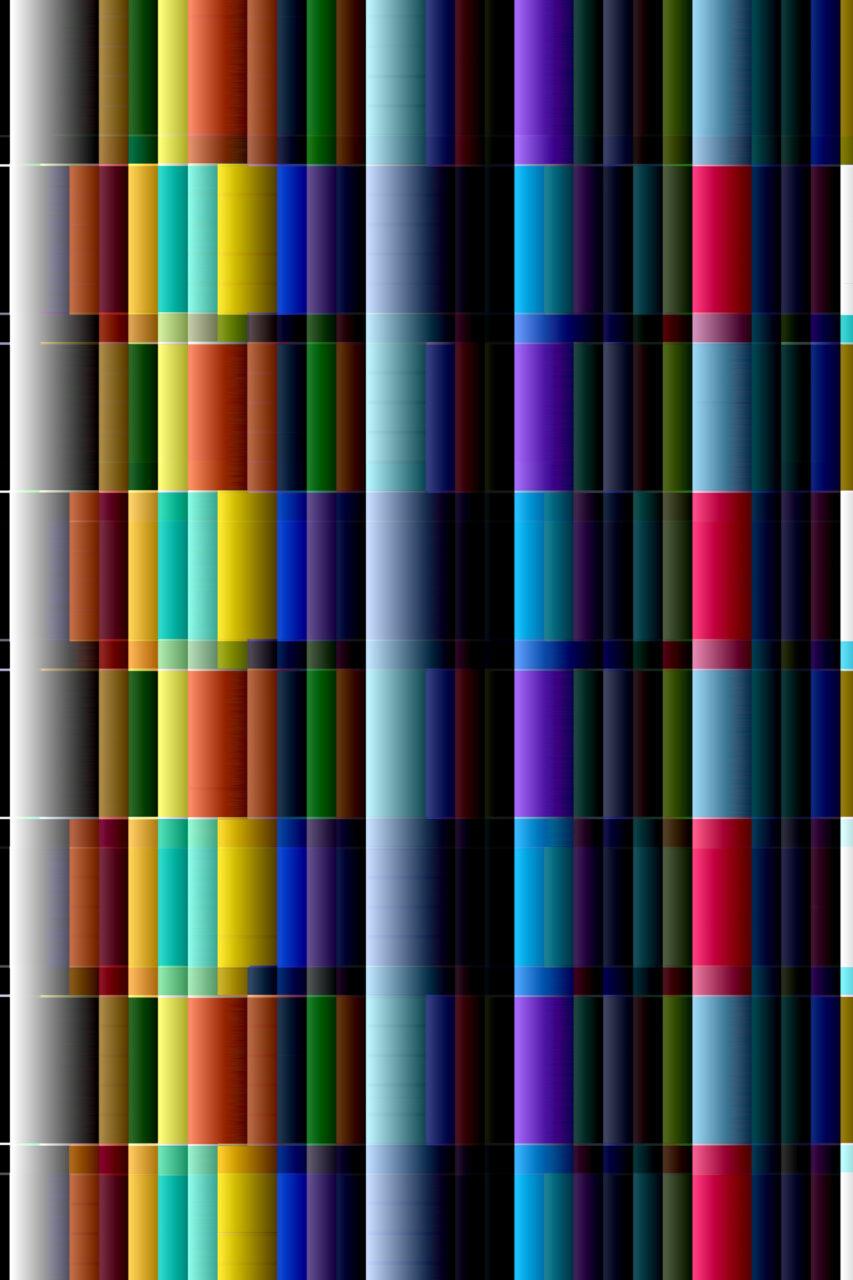 Farbbaender, 2021, Wandteppich, Samt, schimmernd, unten Fransen,  200 cm x 120 cm, auch im Format einer Stele, siehe https://www.virtuelledenkraeume.de/stelen.html