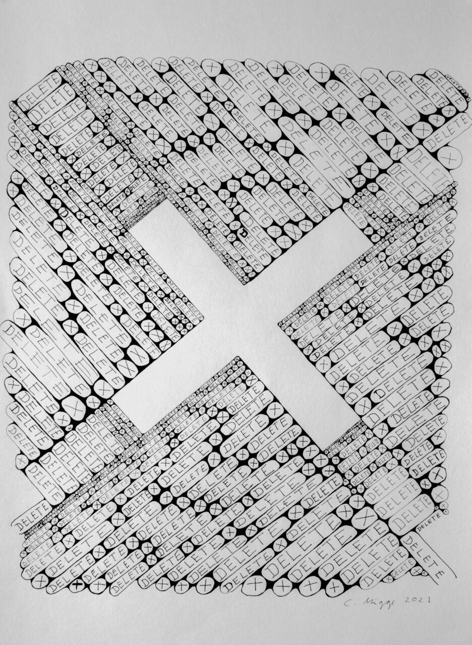 Delete X   Christoph Mügge   available artwork