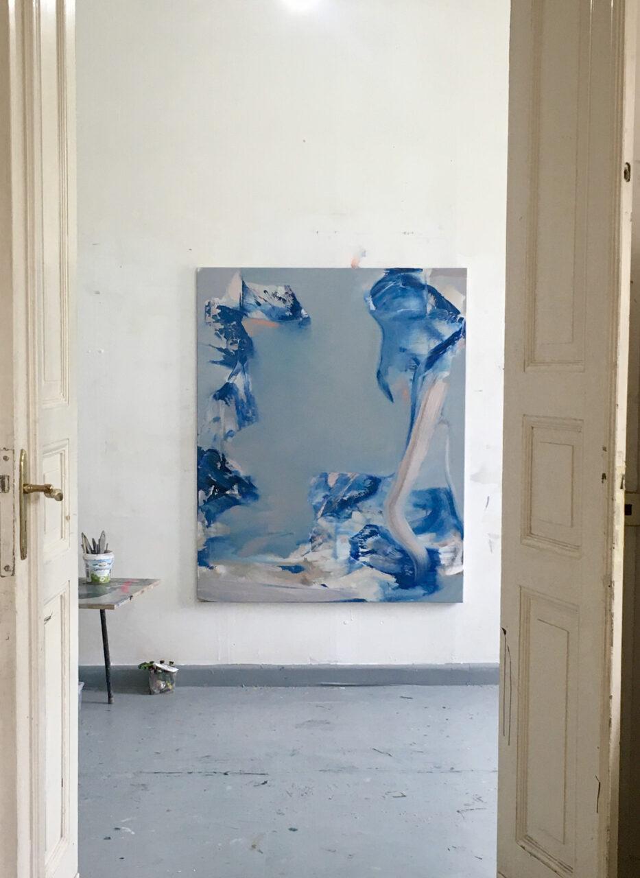 Blue, oil on canvas ,120/150 cm