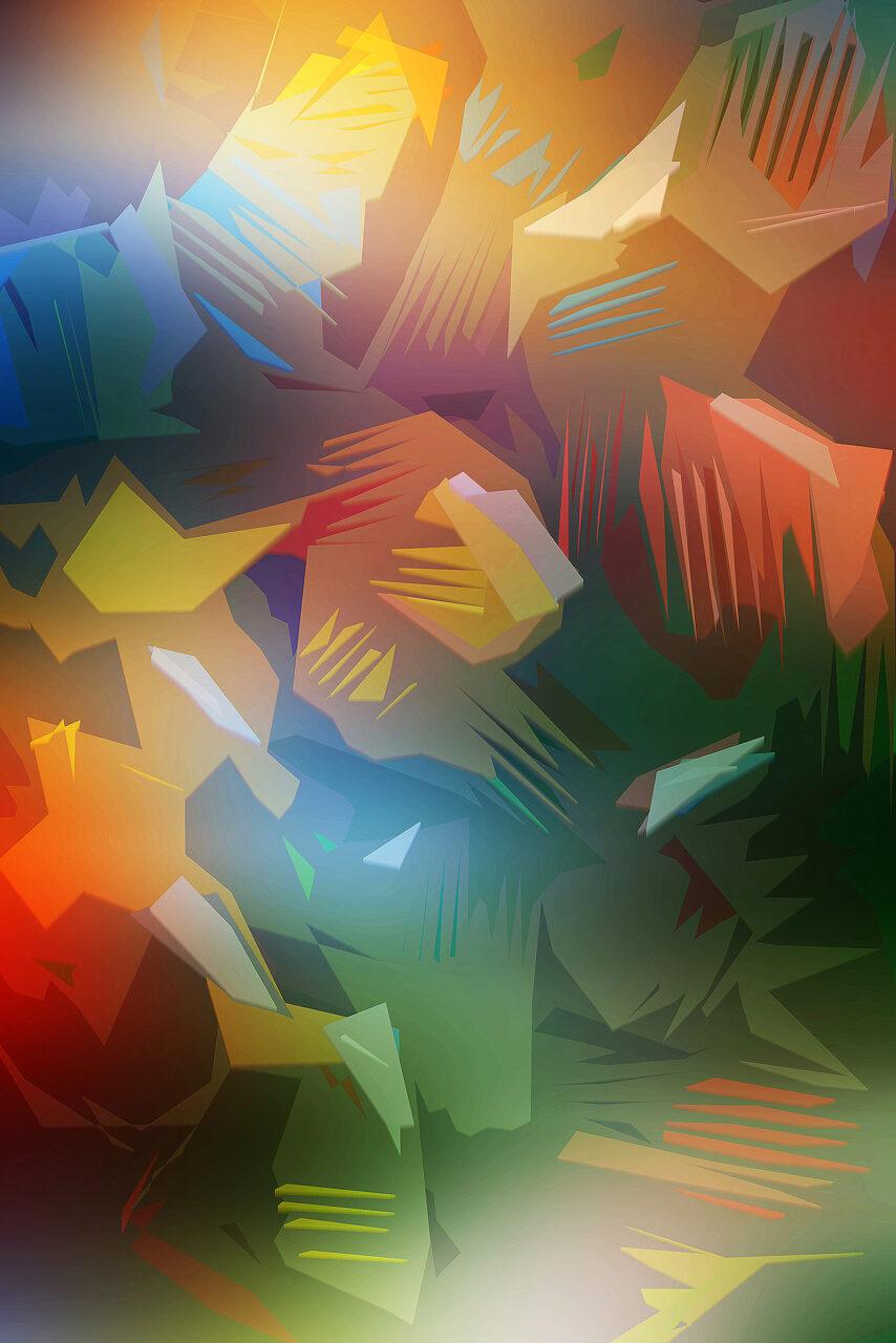 Farbleuchten, Experimental Fine Art Photography, Mixed Media, 2021, 120 x 80cm, Farbpigment auf Aludibond,rückseitig signiert,  auf Wunsch ist eine kleinere Größe oder ein anderer Bildträger möglich